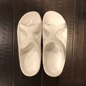 Dawg's White Sandals
